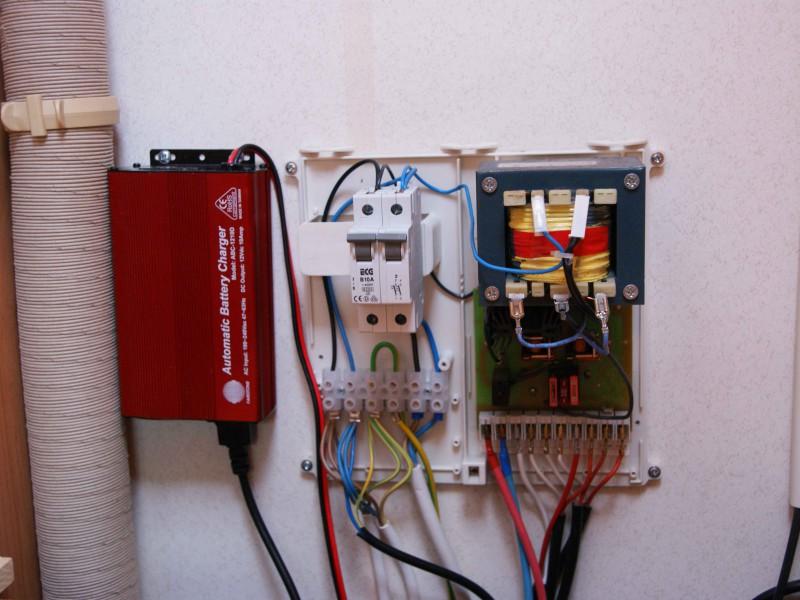 220V řešení – nabíječka baterie