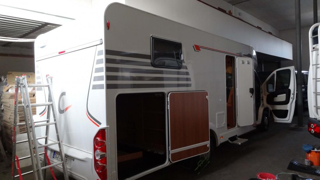 Fiat Carado, připraven pro montáž