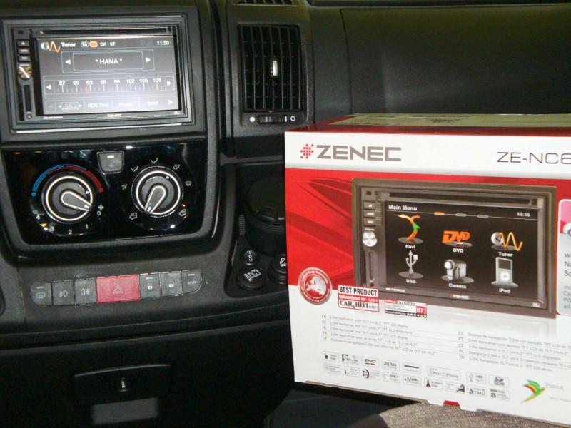 Knaus – palubka PO (Zenec ZE-620DMH, obytné auto, caravan)